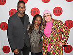 Stephen Bray, Brenda Russell and Allee Willis backstage at The Lilly Awards Broadway Cabaret'   at The Cutting Room on November 9, 2015 in New York City.