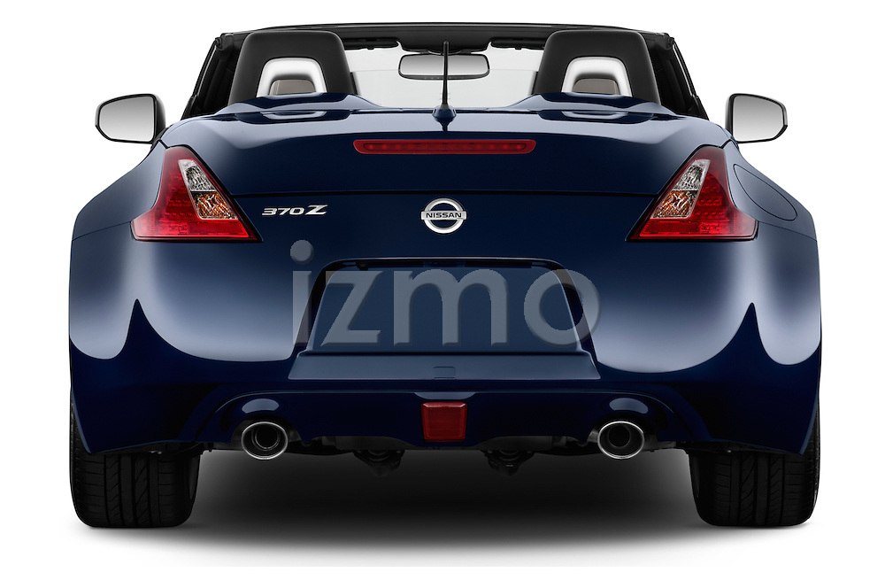 Straight rear view of a 2017 Nissan 370Z AT Roadster