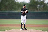AZL White Sox starting pitcher Taylor Varnell (37) prepares to deliver a pitch during an Arizona League game against the AZL Mariners at Camelback Ranch on July 8, 2018 in Glendale, Arizona. The AZL White Sox defeated the AZL Mariners 8-5. (Zachary Lucy/Four Seam Images)
