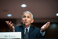 Anthony Fauci, director of the National Institute of Allergy and Infectious Diseases, speaks during a Senate Health, Education, Labor and Pensions Committee hearing in Washington, D.C., U.S., on Tuesday, June 30, 2020. Top federal health officials are expected to discuss efforts to get back to work and school during the coronavirus pandemic. <br /> Credit: Al Drago / Pool via CNP /MediaPunch
