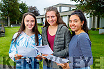 Sibéal Ní Chathasaigh, Sadhbh Sionóid and Kay De Barra, Gaelcholáiste Chiarraí, who received their Leaving Certificate results on Tuesday morning last.