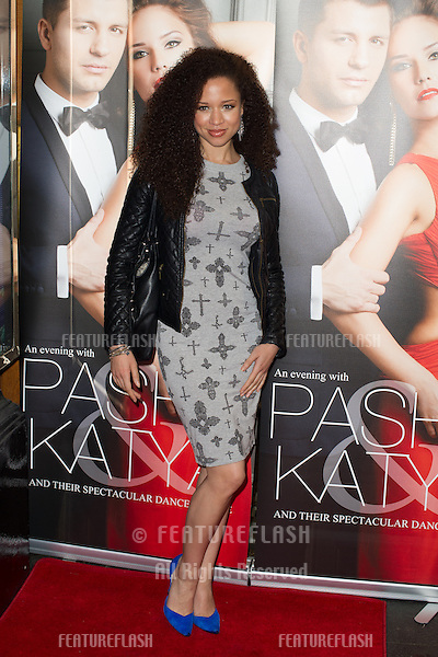 Natalie Gumede at the Katya and Pasha West End show - Gala night held at the Lyric Theatre, London. 07/04/2014 Picture by: Dave Norton / Featureflash