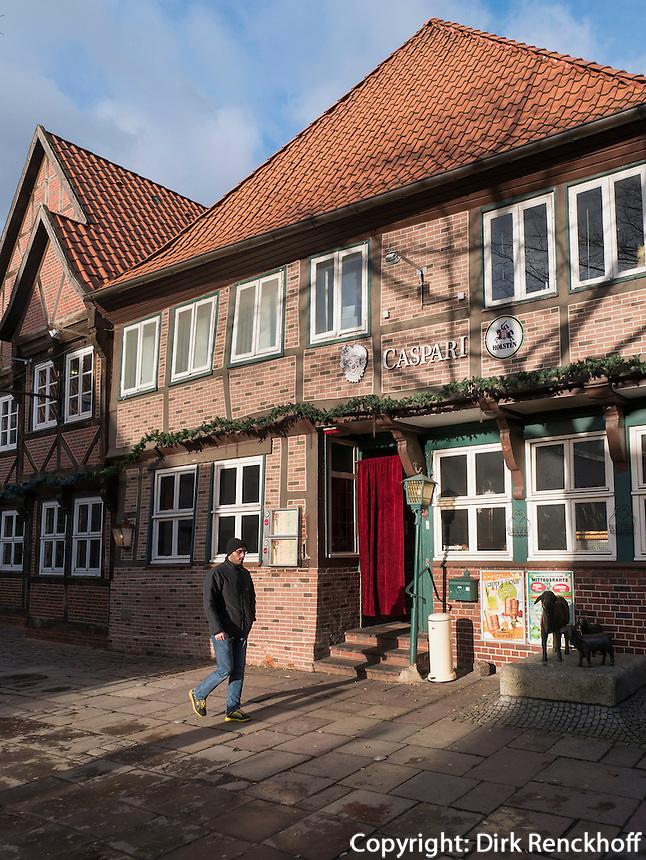 Restaurant Caspari in Fachwerkhaus an der L&auml;mmertwiete, Hamburg-Harburg, Deutschland, Europa<br /> restaurant Caspari in half timbered house at L&auml;mmertwiete, Hamburg-Harburg, Germany Europe