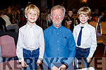 Aidan O'Carroll with twins Adam and Shane Sinnott at the Kerry School of Music concert in the Rose Hotel on Sunday.