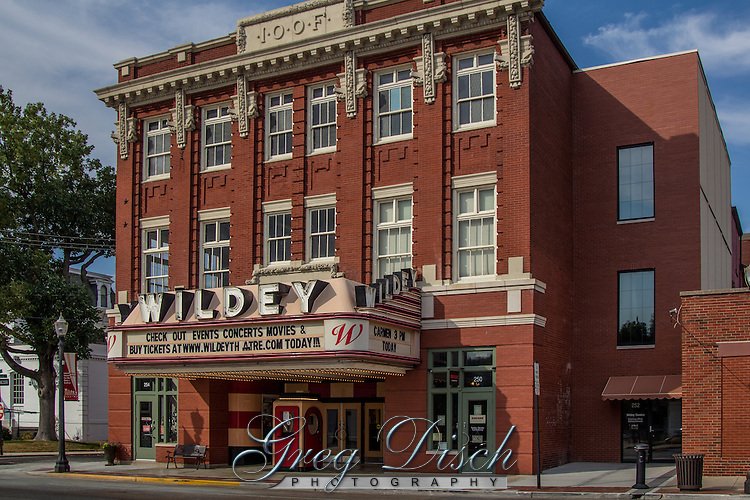 "The historic Wildey Theatre  opened in 1909 as an opera house located in Downtown Edwardsville on Main Street.  The Wildey closed as a full-time movie theatre on March 8, 1984 with The Edwardsville Historic Preservation Commission designating  the Wildey Theatre as a ""Local Landmark"" in 1986. the City acquired the property (or theatre) in 1999 with a state grant. The City has now finished the renovation, and the resurrected theatre is ready to once again be a venue for live performances and classic films."