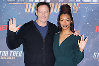 "Jason Isaacs and Sonequa Martin-Green<br /> at the ""Star Trek Discovery"" photocall, Millbank Tower,  London<br /> <br /> <br /> ©Ash Knotek  D3347  05/11/2017"