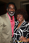 Norm Lewis & Da'Vine Joy Randolph.Behind the Scenes at the 2012 Tony Award-Meet The Nominees Press Reception at Millennium Broadway Hotel on May 2, 2012 in New York City. © Walter McBride/WM Photography .