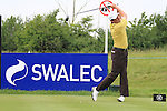 Peter Lawrie teeing off on the 2nd on day three of the Celtic Manor Wales Open 2010.Picture Fran Caffrey/Newsfile.ie