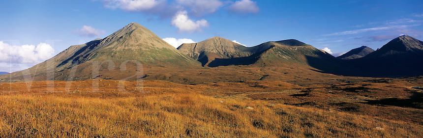 .The Red Hills (Lord MacDonald's Forest), main peak - Glamaig, Isle of Skye, western Scotland...