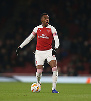 Arsenal's Joe Willock<br /> <br /> Photographer Rob Newell/CameraSport<br /> <br /> UEFA Europa League Group E - Arsenal v FK Qarabag - Thursday 13th December 2018 - Emirates Stadium - London<br />  <br /> World Copyright © 2018 CameraSport. All rights reserved. 43 Linden Ave. Countesthorpe. Leicester. England. LE8 5PG - Tel: +44 (0) 116 277 4147 - admin@camerasport.com - www.camerasport.com