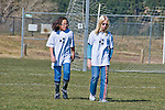 dejected soccer girls after missing a goal, model released (MR#)