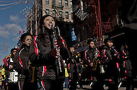 New york, United States. 17th February 2013 -- People take part during the Chinese New Year celebrations in New York. Photo Credit: .Kena Betancur. --Chinese Celebrate Lunar New Year Of The Snake 2013