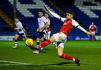 Fleetwood Town's Harrison Biggins puts a chance over the bar<br /> <br /> Photographer Alex Dodd/CameraSport<br /> <br /> The EFL Checkatrade Trophy Group B - Bury v Fleetwood Town - Tuesday 13th November 2018 - Gigg Lane - Bury<br />  <br /> World Copyright &copy; 2018 CameraSport. All rights reserved. 43 Linden Ave. Countesthorpe. Leicester. England. LE8 5PG - Tel: +44 (0) 116 277 4147 - admin@camerasport.com - www.camerasport.com