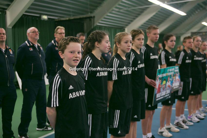 19-01-14,Netherlands, Rotterdam,  TC Victoria, Wildcard Tournament, ,   Final,  Ballkids<br /> Photo: Henk Koster