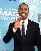 LOS ANGELES -  4: Brandon T. Jackson arriving at the 42nd NAACP Image Awards at Shrine Auditorium on March 4, 2011 in Los Angeles, CA