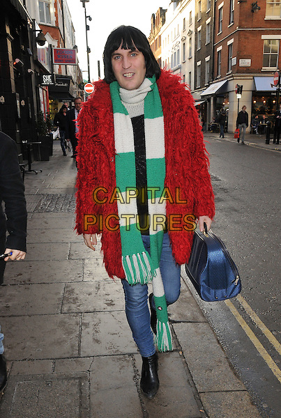 Noel Fielding spotted walking along Old Compton Street, Soho, London, UK, on Monday 04 January 2016.<br /> CAP/CAN<br /> &copy;CAN/Capital Pictures