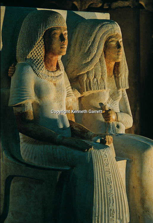 Statue of Meryre and his wife, Tutankhamun and the Golden Age of the Pharaohs, Page 55