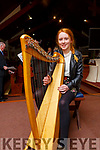 Orlaith McKenna from Abbeydorney playing the Harp, ready to perform in the Abbeydorney Church Concert in aid of Sightsavers in the Church on Sunday evening.