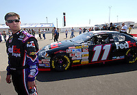 Apr 28, 2007; Talladega, AL, USA; Nascar Nextel Cup Series driver Denny Hamlin (11) during qualifying for the Aarons 499 at Talladega Superspeedway. Mandatory Credit: Mark J. Rebilas