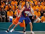Baloncesto Fuelabrada's Ferran Lavina (l) and FC Barcelona Regal's Chuck Edison during Liga Endesa ACB match.October 30,2011. (ALTERPHOTOS/Acero)