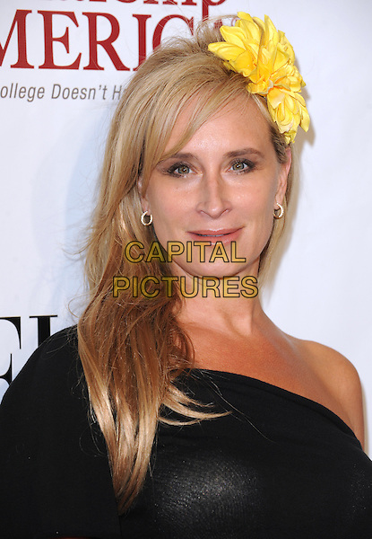 SONJA TREMONT-MORGAN.The 2nd annual Mary J. Blige Honors Concert to benefit FFAWN's Scholarship Fund held at Hammerstein Ballroom in NY, California, USA..May 1st, 2011.headshot portrait black one shoulder yellow corsage in hair                                              .CAP/RKE/DVS.©DVS/RockinExposures/Capital Pictures.