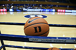 DURHAM, NC - NOVEMBER 30: Duke practice ball. The Duke University Blue Devils hosted the Ohio State Buckeyes on November 30, 2017 at Cameron Indoor Stadium in Durham, NC in a Division I women's college basketball game, and as part of the annual ACC-Big Ten Challenge. Duke won the game 69-60.