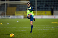 10th March 2020; Dens Park, Dundee, Scotland; Scottish Championship Football, Dundee FC versus Ayr United; Shaun Byrne of Dundee during the warm up before the match