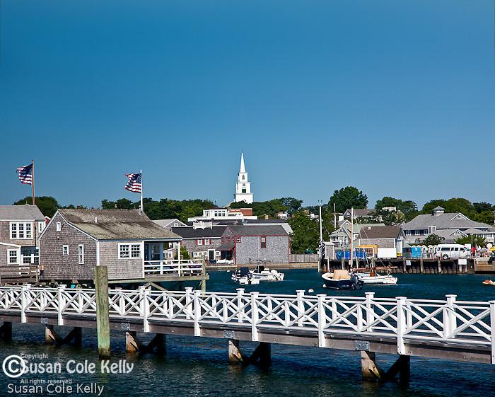 Congregational Church steeple in Nantucket, MA, USA