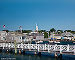 Congregational Church steeple in Nantucket, MA, USA
