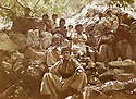 Iraq 1979 <br /> In Kala Tulan, during the armed struggle, in the middle Mullazem Omar Abdallah having rest with  peshmergas  <br /> Irak 1979 <br /> Pendant la lutte armee, a Kala Tulan, Mullazem Omar Abdallah et des peshmergas se reposant