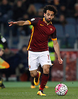 Calcio, Serie A: Roma vs Fiorentina. Roma, stadio Olimpico, 4 marzo 2016.<br /> Roma&rsquo;s Mohamed Salah in action during the Italian Serie A football match between Roma and Fiorentina at Rome's Olympic stadium, 4 March 2016.<br /> UPDATE IMAGES PRESS/Riccardo De Luca