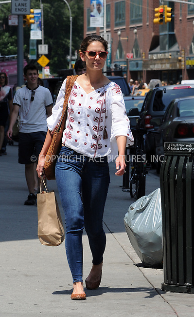 WWW.ACEPIXS.COM . . . . .  ....June 20 2012, New York City....Actress Katie Holmes went for a walk in her East Village neighborhood on June 20 2012 in New York City....Please byline: CURTIS MEANS - ACE PICTURES.... *** ***..Ace Pictures, Inc:  ..Philip Vaughan (212) 243-8787 or (646) 769 0430..e-mail: info@acepixs.com..web: http://www.acepixs.com