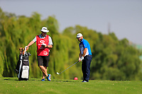 Andy Sullivan (ENG) second shot on the 15th fairway during the 3rd round at the WGC HSBC Champions 2018, Sheshan Golf CLub, Shanghai, China. 27/10/2018.<br /> Picture Fran Caffrey / Golffile.ie<br /> <br /> All photo usage must carry mandatory copyright credit (&copy; Golffile | Fran Caffrey)