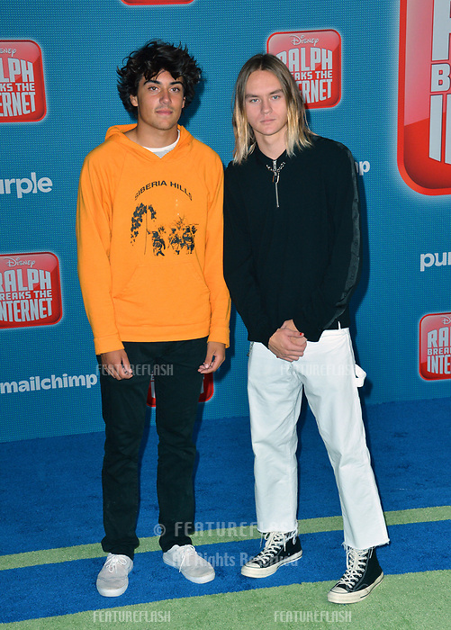 LOS ANGELES, CA. November 05, 2018: Daniel Lara &amp; Josh Holz at the world premiere of &quot;Ralph Breaks The Internet&quot; at the El Capitan Theatre.<br /> Picture: Paul Smith/Featureflash