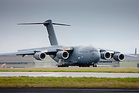 RAF C17 Globemaster air transport troop and cargo plane at RAF  Brize Norton Air Base  in Oxfordshire, UK