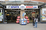 Sports Direct shop in central business district of Swindon, England