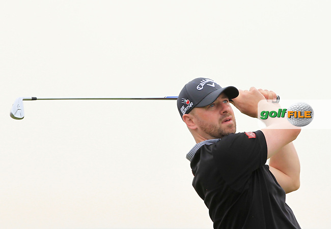 Craig Lee (SCO) on the 13th tee during Round 1 of the Open de Espana  in Club de Golf el Prat, Barcelona on Thursday 14th May 2015.<br /> Picture:  Thos Caffrey / www.golffile.ie