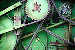 Detail of an early combine, Wooden Shoe Tulip Farm, Oregon