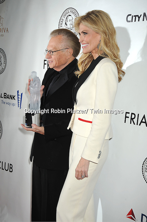 Larry King and wife Shawn Southwick King attends The Friars Club Honors Larry King at a Gala Dinner on November 14, 2011 at The Sheraton New York Hotel in New York City.