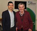Former Kerry footballer and  Dancing with the Stars winner Aidan OÕMahony with Jerry Sheehan at the opening of the Irish Wheelchair Association new Community Centre at The Reeks Gateway, Killarney on Friday.   Picture: macmonagle.com
