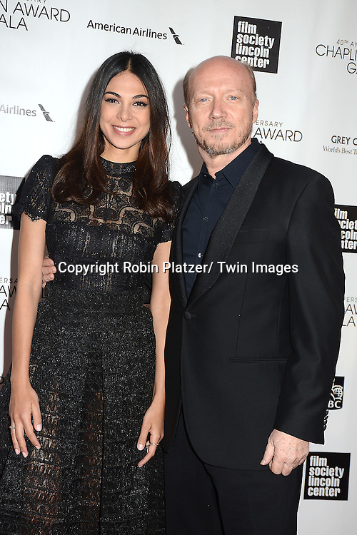 Paul Haggis and Miran Tais attend the  Film Society of Lincoln Center's Gala 40th Annual Charlie Chaplin Award honoring Barbra Streisand on April 22, 2013 in New York City.