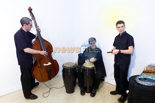 Darren Rooney, Kieran Gallagher and Shane Kierans performing at the opening of Calipo Theatre Company's production Makin' Hits in the Droichead Arts Centre..Picture: Paul Mohan/Newsfile