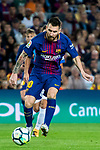 Lionel Andres Messi of FC Barcelona in action during the La Liga 2017-18 match between FC Barcelona and Malaga CF at Camp Nou on 21 October 2017 in Barcelona, Spain. Photo by Vicens Gimenez / Power Sport Images