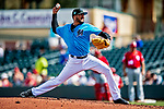 1 March 2019: Miami Marlins pitcher Hector Noesi on the mound during a Spring Training game against the Washington Nationals at Roger Dean Stadium in Jupiter, Florida. The Nationals defeated the Marlins 5-4 in Grapefruit League play. Mandatory Credit: Ed Wolfstein Photo *** RAW (NEF) Image File Available ***