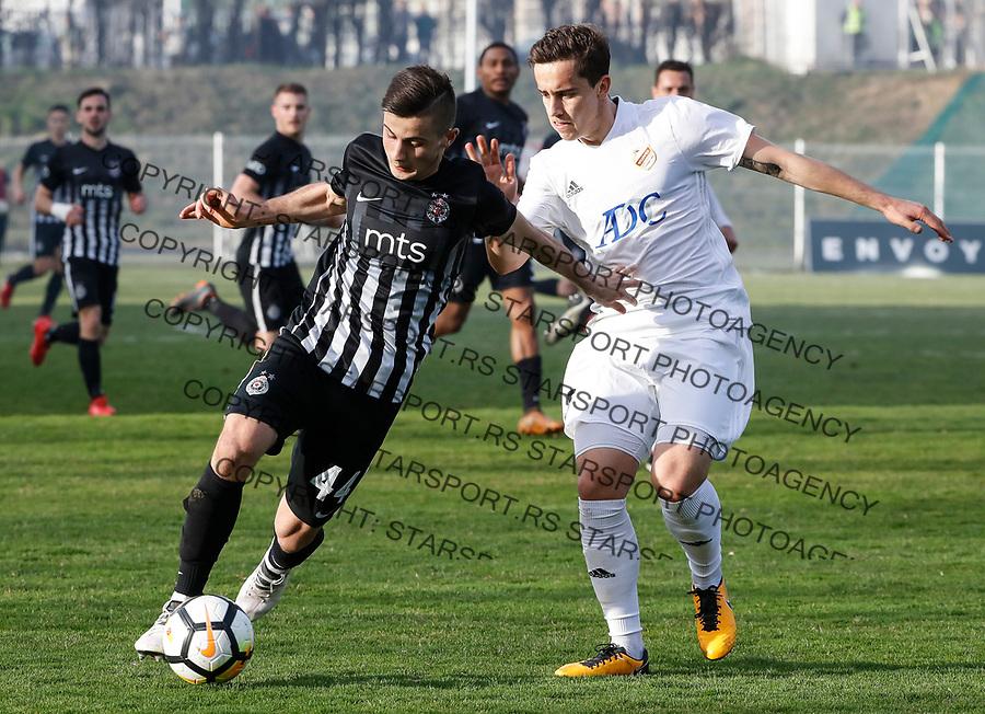 Fudbal Super League Season 2017-2018<br /> Cukaricki v Partizan<br /> Armin Djerlek (L) and Miladin Stevanovic<br /> Beograd, 11.03.2018.<br /> foto: Srdjan Stevanovic/Starsportphoto &copy;