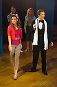 London, UK. 10.10.2014. Mountview Academy of Theatre Arts presents CURTAINS, at the Bernie Grant Arts Centre. Picture shows:  Melissa Potts (BAMBI BERNET) and Koda Holland-Smith (CHRISTOPHER BELLING). Photograph © Jane Hobson.