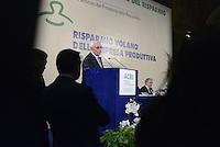 Roma, 30 Ottobre 2013<br /> 89esima Giormata Mondiale del Risparmio organizzata dall'Associazione ACRI.<br /> Nella foto Giuseppe Guzzetti, presidente ACRI, Fabrizio Saccomanni, ministro Economia e Finanze