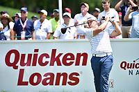 Bethesda, MD - July 2, 2017: Daniel Summerhays teeing off at hole one during final round of professional play at the Quicken Loans National Tournament at TPC Potomac at Avenel Farm in Bethesda, MD.  (Photo by Phillip Peters/Media Images International)