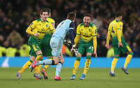 Norwich City's Tim Krul and Josip Drmic lead the celebrations after winning the penalty shoot-out<br /> <br /> Photographer Rob Newell/CameraSport<br /> <br /> The Emirates FA Cup Fifth Round - Tottenham Hotspur v Norwich City - Wednesday 4th March 2020 - Tottenham Hotspur Stadium - London<br />  <br /> World Copyright © 2020 CameraSport. All rights reserved. 43 Linden Ave. Countesthorpe. Leicester. England. LE8 5PG - Tel: +44 (0) 116 277 4147 - admin@camerasport.com - www.camerasport.com