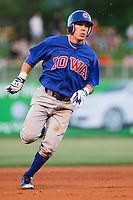 May 18, 2009:  David Macias of the Iowa Cubs, Pacific Cost League Triple A affiliate of the Chicago Cubs, during a game at the Spring Mobile Ballpark in Salt Lake City, UT.  Photo by:  Matthew Sauk/Four Seam Images